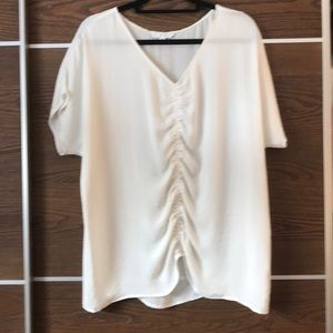 Cabi Front Center Ruched Top